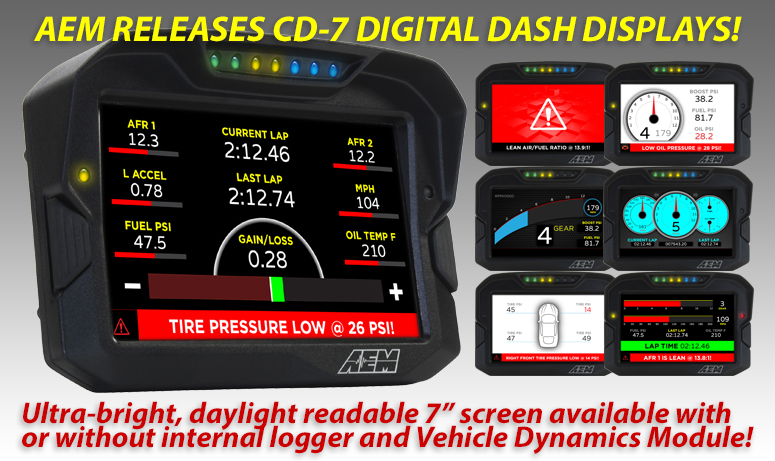 AEM Releases CD-7 Digital Dash Displays